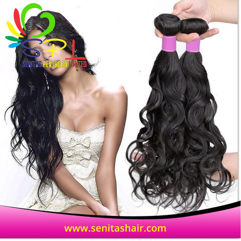 BEST SELLER NATURAL WAVE PERUVIAN HAIR - Senitas Virgin Hair Extension and Wigs