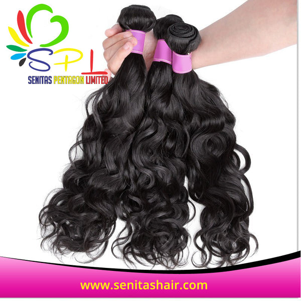 USA BEST SELLER VIRGIN NATURAL WAVE PERUVIAN HAIR - Senitas Virgin Hair Extension and Wigs
