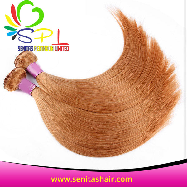 HOT SALE SENITAS SUPER CURLS - GOLD HAIR - STRAIGHT - Senita Hair Extension Houston