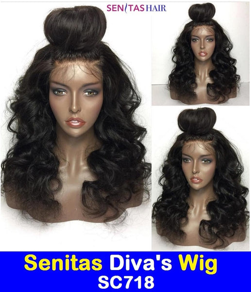 SENITAS DIVA'S WIG SC718:- CELEBRITY FULL LACE WIG - 100% VIRGIN HAIR