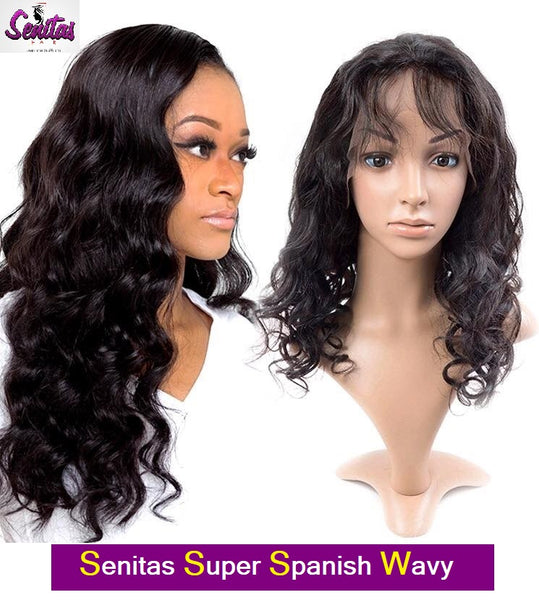 Senitas Spanish Full Lace Wig Wavy- HOT SALE - Senitas Virgin Hair Extension and Wigs