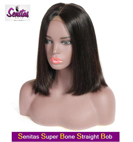 BOB WIG- Full Lace Wig Straight  - 100% Human Virgin Hair Extension Wig