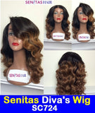 SENITAS DIVA'S WIG SC724:- CELEBRITY FULL LACE WIG - 100% VIRGIN HAIR