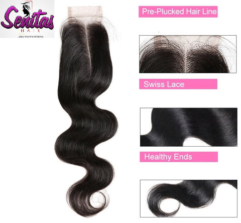 TOP CLOSURE - 2'' X 4'' BODY WAVE