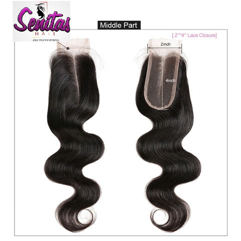 TOP CLOSURE - 2'' X 4'' BODY WAVE - HOT SALE