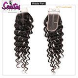 TOP CLOSURE - 2'' X 4'' DEEP WAVE - HOT SALE - Senitas Virgin Hair Extension and Wigs