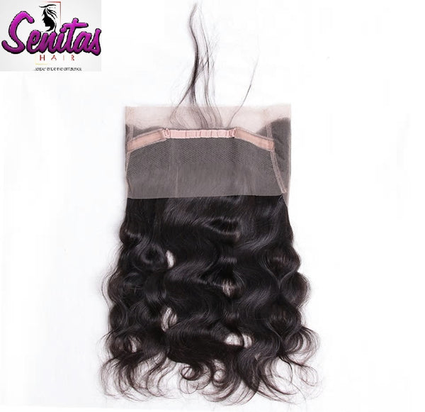 360 Lace Frontal - Bodywave Virgin Hair Closure With Baby Hair - Senitas Virgin Hair Extension and Wigs