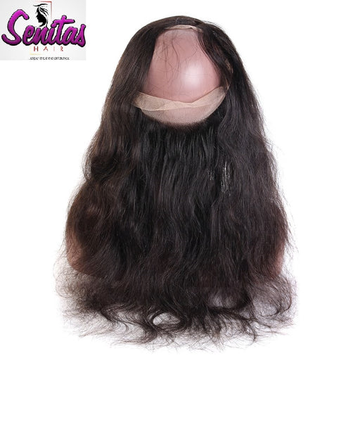 360 Lace Frontal - Unprocessed Body wave Closure With Baby Hair - Senitas Virgin Hair Extension and Wigs