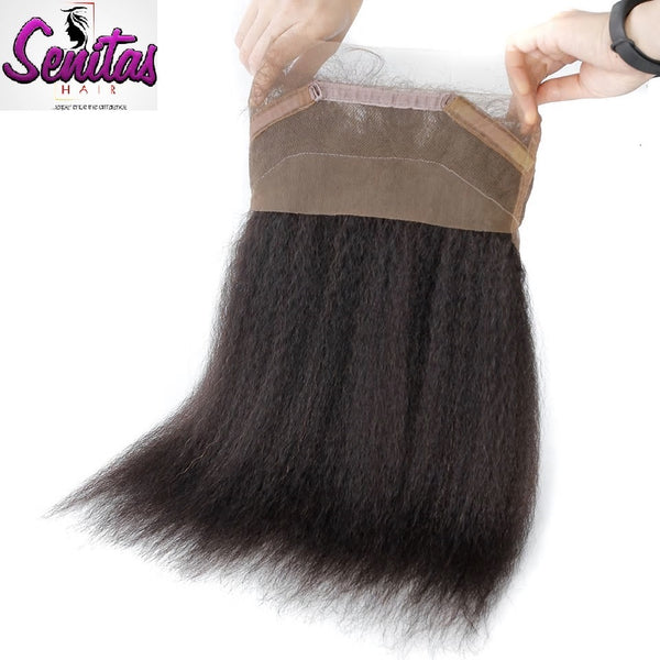 360 Lace Frontal - Kinky Straight 100% Virgin Human Hair - HOT SALE - Senitas Virgin Hair Extension and Wigs