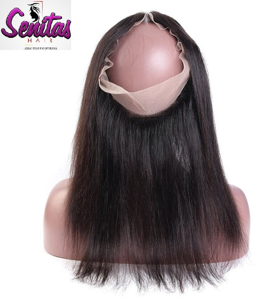 360 Lace Frontal - Straight 100% Virgin Human Hair