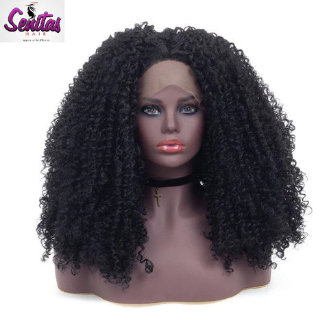Unprocessed Senitas Full Lace Wig Tight Deep Kinky  - 100% Virgin Remy Hair