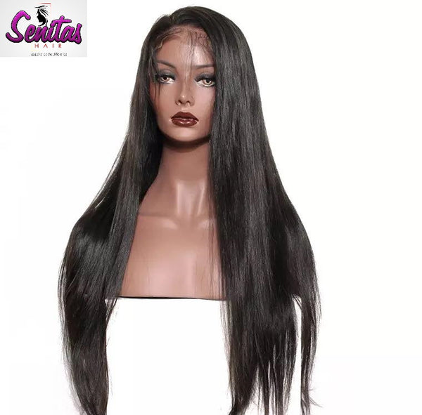 Full Lace Wig Straight  - 100% Human Virgin Hair Extension Wig