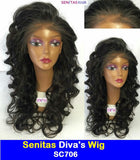 Senitas Diva's Wig SC706 :- CELEBRITY FULL LACE WIG - CURLY