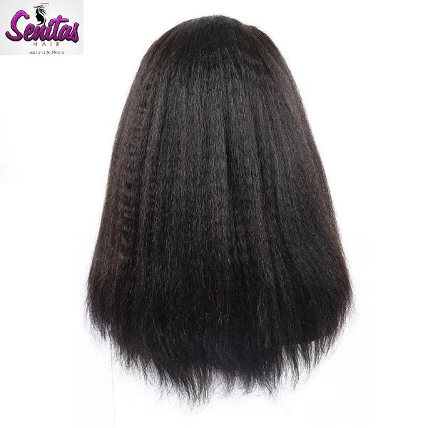 Sexy Unprocessed Senitas Full Lace Wig Kinky Straight - HOT SALE