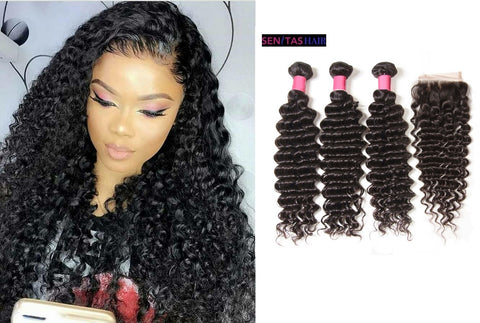 Brazilian DEEPCURLY- Hot Sales Remy Virgin Hair - Senitas Virgin Hair Extension and Wigs