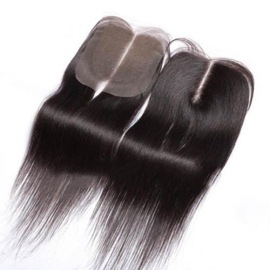 Natural Straight Remy Virgin Top 4*4 CLOSURE