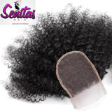 TOP CLOSURE - AFRO KINKY  - 100% VIRGIN LACE CLOSURE