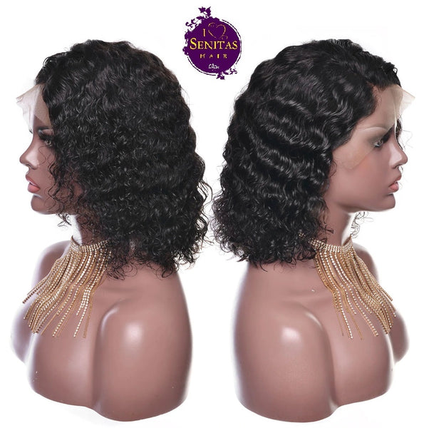 Wig Deep Wave Human Hair Short Wig