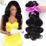 REMY BRAZILIAN BODY WAVE - VIRGIN HUMAN HAIR EXTENSION