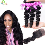 REMY BRAZILIAN LOOSEWAVE - HUMAN HAIR EXTENSIONS - Senitas Virgin Hair Extension and Wigs
