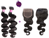 Brazilian Body Wave 2 Bundles + Top Closure. 100% Unprocessed Virgin Hair Weaves... Senitas Hair
