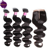 Brazilian Body Wave 3 Bundles + Top Closure. 100% Virgin Human Hair Weaves... Senitas Hair - Senitas Virgin Hair Extension and Wigs