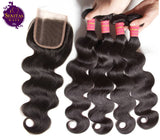 Brazilian Body Wave 4 Bundles + Top Closure. 100% Unprocessed Virgin Hair Weaves... Senitas Hair - Senitas Virgin Hair Extension and Wigs