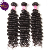 Brazilian Deep Wave 3 Bundles. 100% Unprocessed Virgin Human Hair Weaves... Senitas Hair