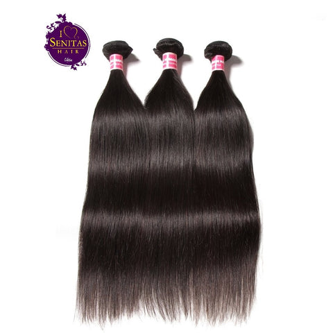 Brazilian Straight 3 Bundles. 100% Virgin Unprocessed Human Hair Weaves... Senitas Hair - Senitas Virgin Hair Extension and Wigs