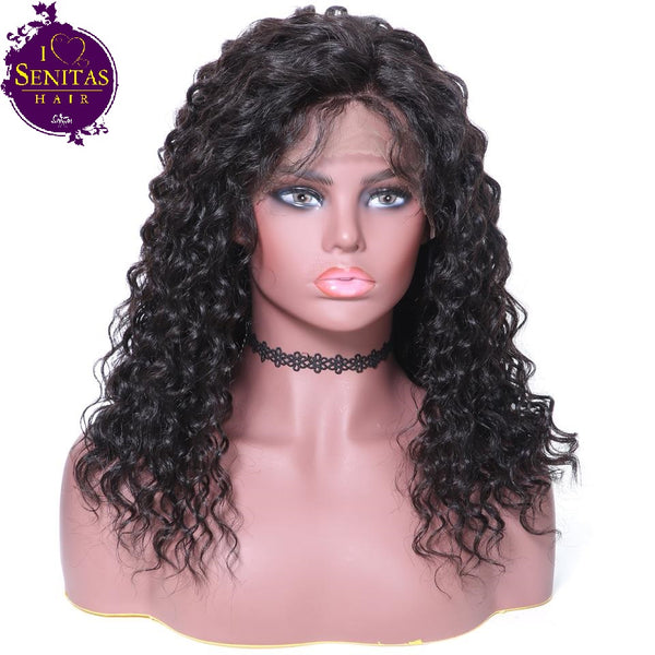 Lace Front  Wig Deep Wave 100% Virgin Human Hair Wig on Sale 180% Density