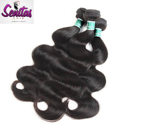 Indian Best Seller Body Wave 3 Bundles. 100% Virgin Unprocessed Human Hair Weaves... Senitas Hair