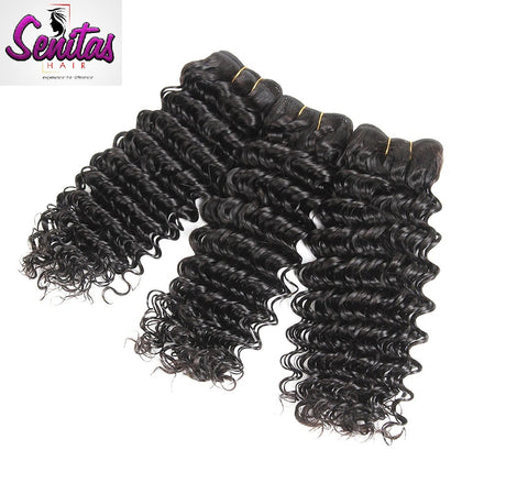 Indian Best Seller Deep Wave 3 Bundles. 100% Virgin Unprocessed Human Hair Weaves... Senitas Hair