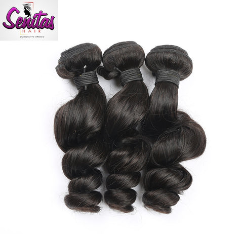 Indian Best Seller Loose Wave 3 Bundles. 100% Virgin Unprocessed Human Hair Weaves... Senitas Hair