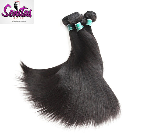 Indian Hot Sale Straight 3 Bundles. 100% Virgin Unprocessed Human Hair Weaves... Senitas Hair