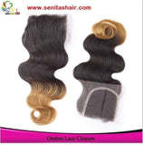 Hot Sale Ombre  BODYWAVE LACE TOP 4*4 CLOSURE - Senitas Virgin Hair Extension and Wigs