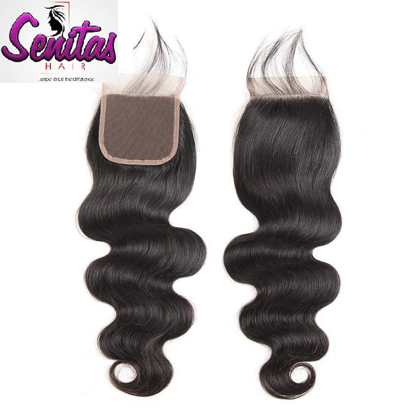 TOP CLOSURE - INDIAN BODY WAVE - 100% VIRGIN LACE CLOSURE