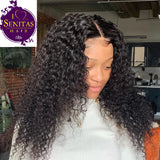 360 Frontal Lace Wig Jerry Curls Virgin Human Hair Wig on Sale 180% Density