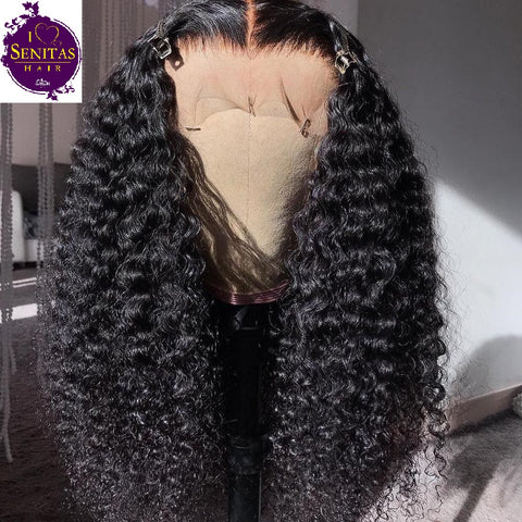 360 Frontal Lace Wig Jerry Curls Virgin Human Hair Wig on Sale 180% Density - Senitas Virgin Hair Extension and Wigs