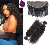 Brazilian Jerry Curls 2 Bundles + Frontal Lace Closure. 100% Unprocessed Virgin Hair Weaves... Senitas Hair
