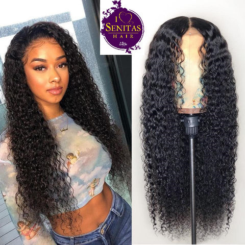 Frontal Lace Wig Jerry Curls Virgin Human Hair Wig on Sale 180% Density - Senitas Virgin Hair Extension and Wigs