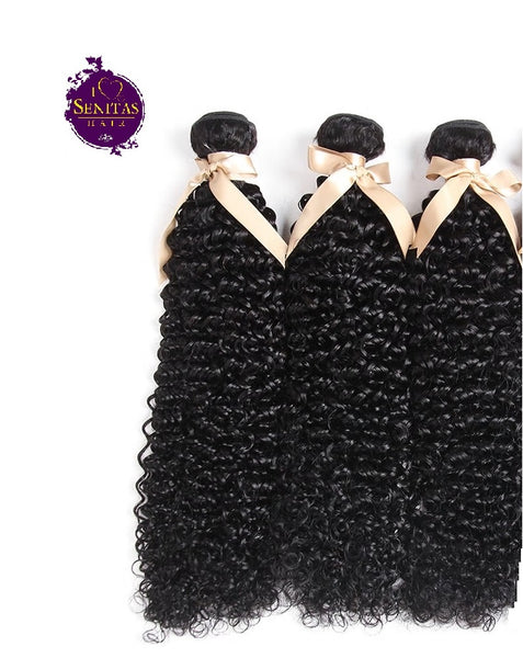 Brazilian Jerry Curls 3 Bundles. 100% Virgin Human Hair Weaves... Senitas Hair