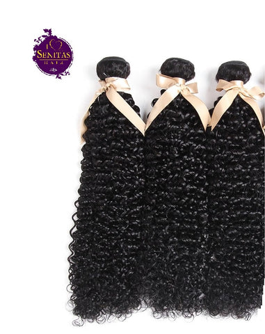 Brazilian Jerry Curls 3 Bundles. 100% Virgin Human Hair Weaves... Senitas Hair - Senitas Virgin Hair Extension and Wigs