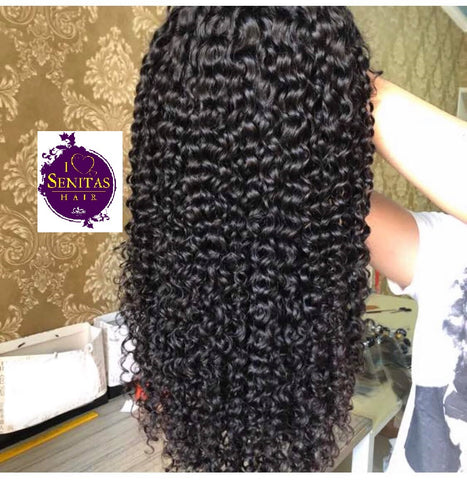 Frontal Lace Wig Jerry Curls Virgin Remy Human Hair Wig on Sale 180% Density