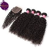 Brazilian Jerry Curls 4 Bundles + Top Closure. 100% Unprocessed Virgin Hair Weaves... Senitas Hair