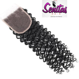 TOP CLOSURE - KINKY  - 100% VIRGIN LACE CLOSURE - Senitas Virgin Hair Extension and Wigs