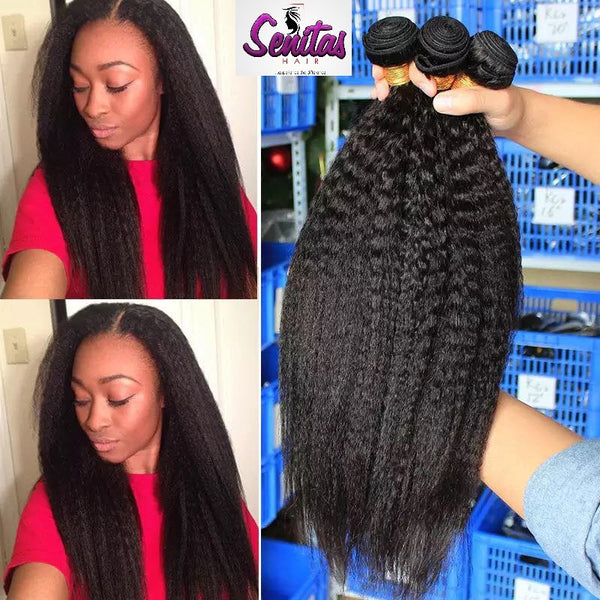 HOT SALE- KINKY COARSE YAKI STRAIGHT HUMAN VIRGIN HAIR.