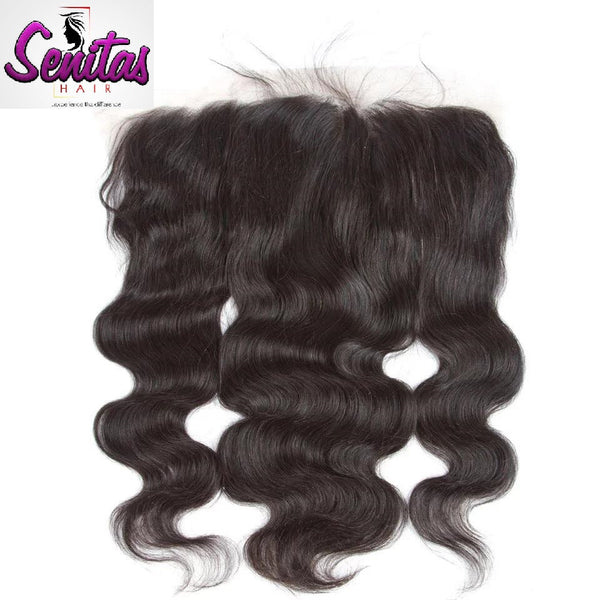 Unprocessed Bodywave Lace Frontal 13x4 Natural Color 100% Human Hair. - Senitas Virgin Hair Extension and Wigs