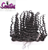 Frontal Lace Closure - Deepwave 13x4 Natural Color 100% Human Virgin Hair - Senitas Virgin Hair Extension and Wigs