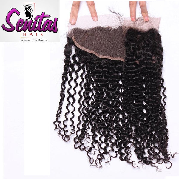 Unprocessed Deepwave Lace Frontal 13x4 Natural Color 100% Human Virgin Hair. - Senitas Virgin Hair Extension and Wigs