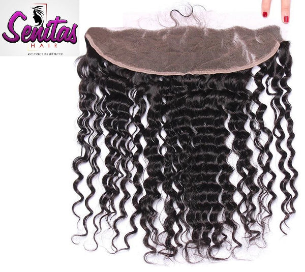Frontal Lace Closure - Deepwave 13x4 Natural Color 100% Human Virgin Hair